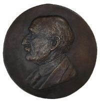 Bronze Relief of Thomas Hardy by Jan Graham (Copyright)