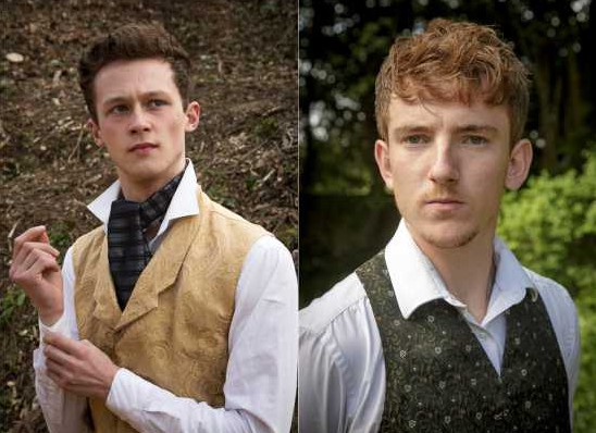 Two young men in smart shirts and waistcoats